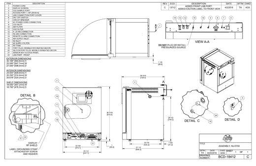 [Drawing] NU-5700 Series CO2 Incubator