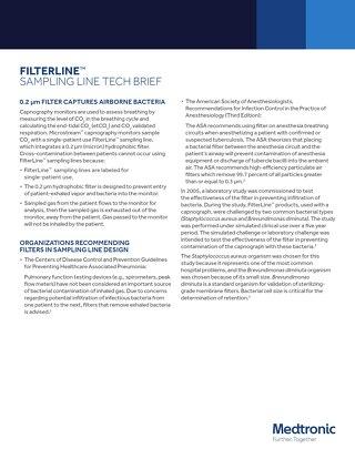 White Paper: FilterLine™ Captures Airborne Bacteria