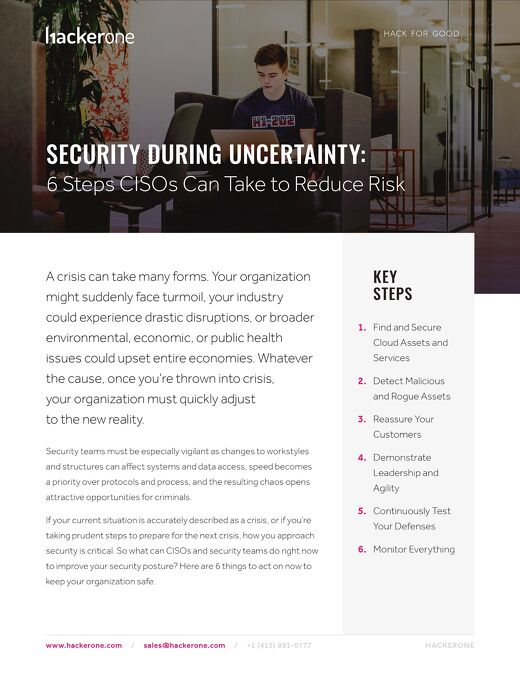 Security During Uncertainty: 6 Steps CISOs Can Take to Reduce Risk
