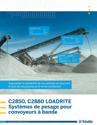 Trimble LOADRITE C-Series Belt Scales Brochure - French