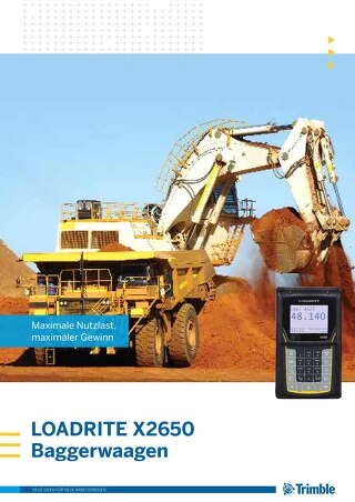 Trimble LOADRITE X2650 Brochure - German