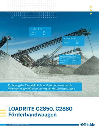 Trimble LOADRITE C-Series Belt Scales Brochure - German