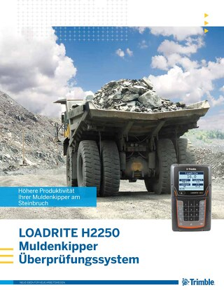 Trimble LOADRITE H2250 Haul Truck Monitor Brochure - German