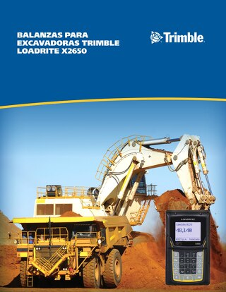 Trimble LOADRITE X2650 Excavator Scales Brochure - Spanish