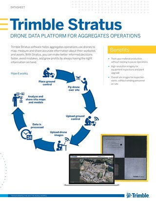 Trimble Stratus Drone Data Platform for Aggregates Operations Datasheet - English