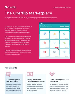 Uberflip Marketplace Overview