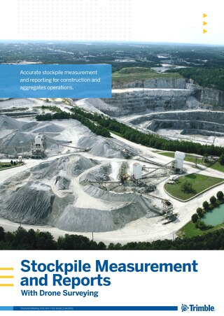 Stockpile Measurement and Reports with Trimble Stratus Drone Surveying White Paper - English