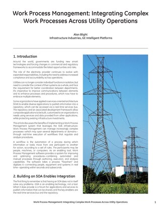 White Paper: Integrating Complex Work Processes Across Utility Operations