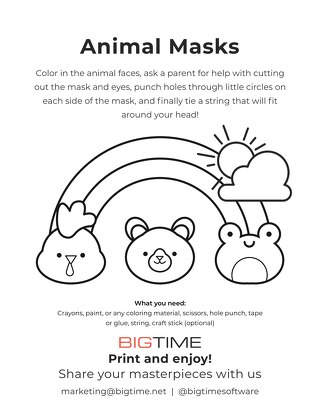 BigTime Fun Animal Masks