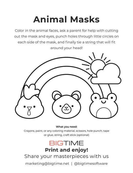 BigTime Fun Animal Masks