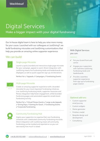Datasheet: Digital Services