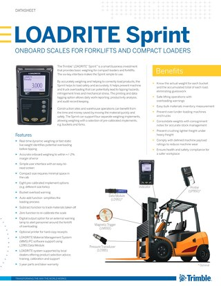 Trimble LOADRITE Sprint Datasheet - English