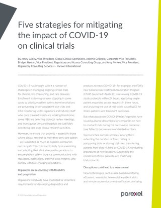 5 strategies for mitigating the impact of COVID-19 on clinical trials