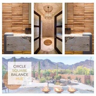 CIRCLE SQUARE BALANCE HUE by Lori Carroll