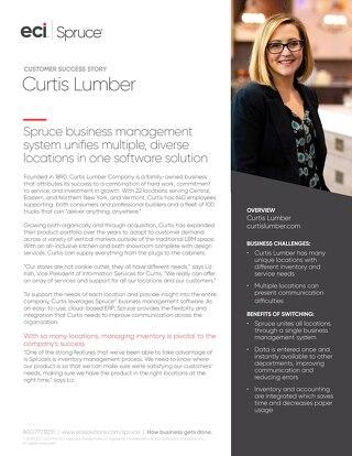 Curtis Lumber Spruce Written Case Study