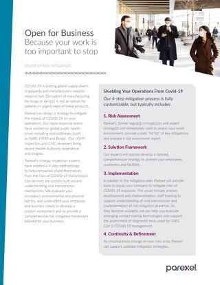 COVID19 Risk mitigation Services Factsheet