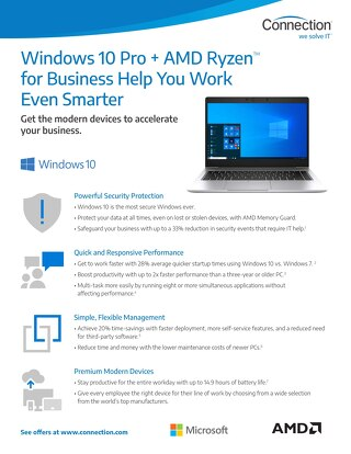 Windows 10 Pro + AMD Ryzen™ for Business Help
