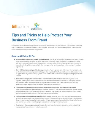 Fraud Prevention Tips and Tricks