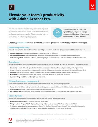 Elevate your team's productivity with Adobe Acrobat Pro