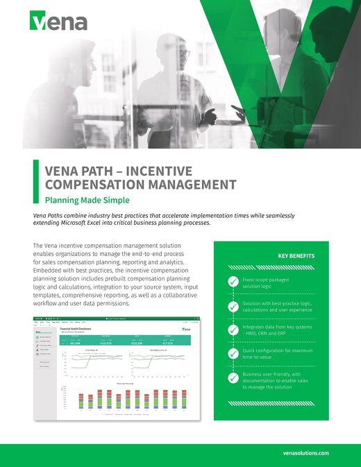 Vena Paths - Incentive Compensation Management