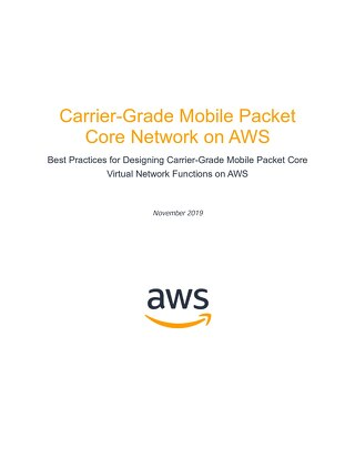 Carrier Grade Mobile Packet Core Network on AWS