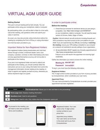 AGM Virtuel Guide de l'utilisateur 2020