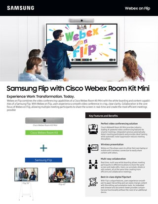 Samsung Flip with Cisco Webex Room Kit Mini