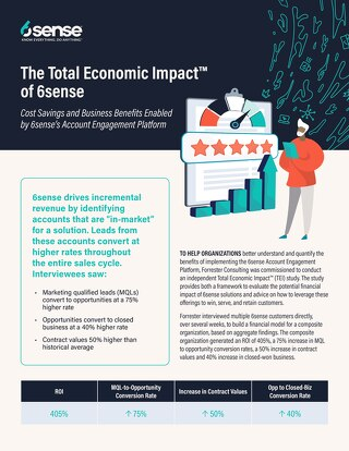 Forrester's Total Economic Impact of 6sense Report