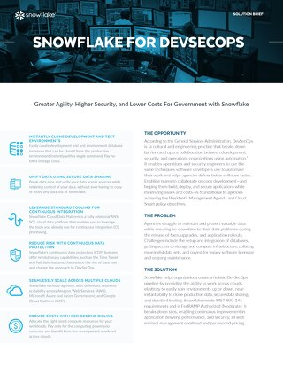Snowflake for DevSecOps