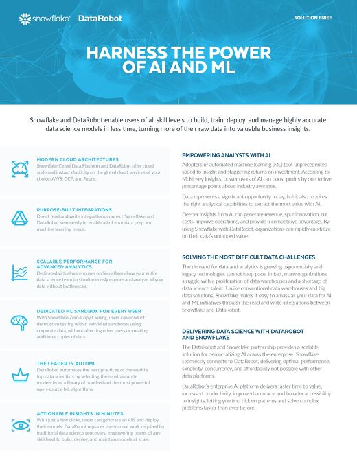 Harness the Power of AI and ML