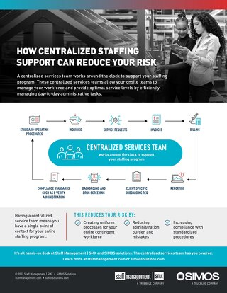 How Centralized Staffing Can Reduce Your Risk Info Sheet