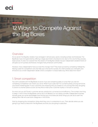 12 Ways To Compete Against The BigBoxes - AUS