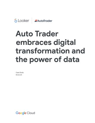 Auto Trader embraces digital transformation and the power of data