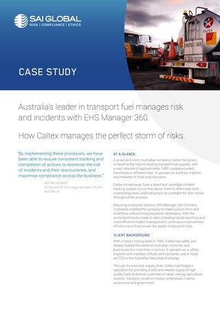 Caltex EHS Case Study for SAI Global