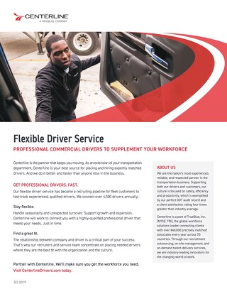 Centerline Flexible Service - Info sheet