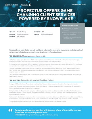 Profectus Group: Profectus Offers Game-Changing Client Services Powered by Snowflake