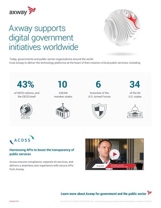 Axway supports digital government initiatives worldwide