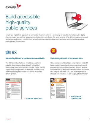 Build accessible, high-quality public services