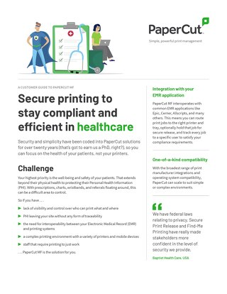 PaperCut Healthcare Compliance