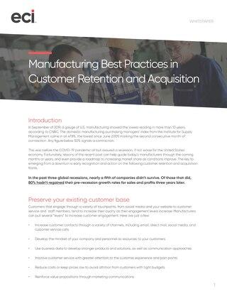 Best Practices Customer Retention Acquisition