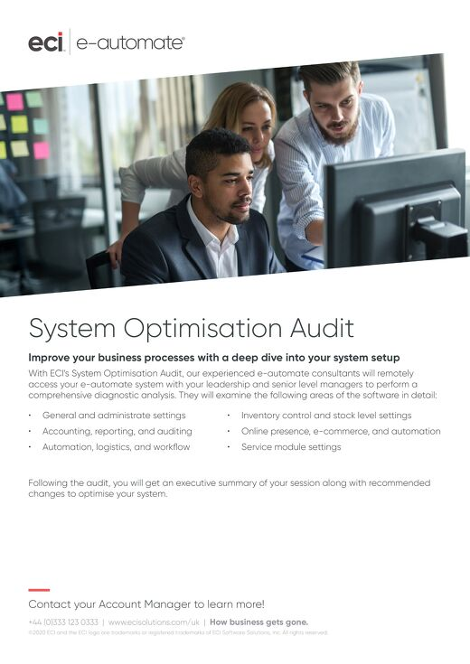 e-automate System Optimisation Audit UK
