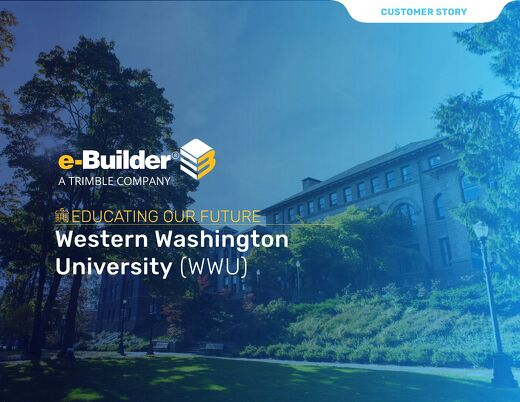 Western Washington University Implements Capital Program Controls with e-Builder