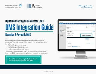 Digital Contracting DMS Integration Guide – Reynolds & Reynolds