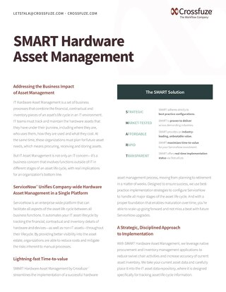 SMART Hardware Asset Management