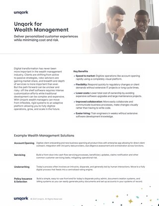 Industry Brief: Unqork for Wealth Management
