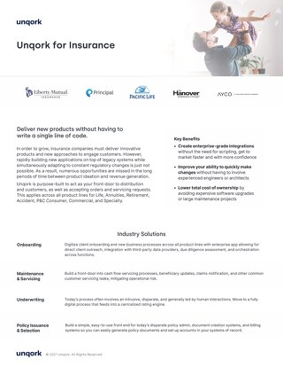 Industry Brief: Unqork for Insurance