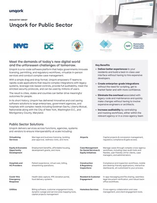 Industry Brief: Unqork for the Public Sector