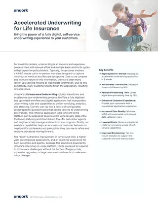 Solution Brief: Life Insurance Underwriting