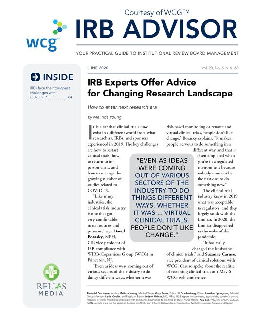 IRB Experts Offer Advice for Changing Research Landscape