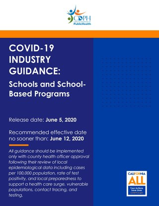 CDPH Guidance for Schools